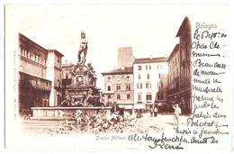 Bologna - Piazza Nettuno. 1900 - Bologna