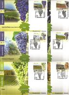 Enologia, Uva, Vino, Vite. 2015, Italia, Serie 15 Cartoline Maximum Di Poste Italiane Annullo Primo Giorno Di Emissione. - Agricoltura
