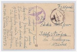 Dt.- Reich (001717) Weihnachtskarte Gelaufen Mit Feldpost Am 22.12.1940 FPNR 39837 1. Kompanie Panzer-Abwehr-Abteilung 5 - Deutschland