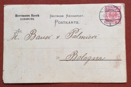 GERMANY POSTKART RHERRMANN BARSCH   10 Pf.  FROM LIEGNITZ (LEGNICA POLONIA ) 9/10/90  TO BOLOGNA ITALY - Germany
