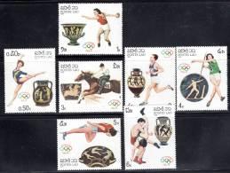 LAOS - N°763/9  **  (1987) J.O De Séoul 88 - Laos
