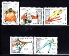 LAOS - N°995/999  **  (1991) J.O D'Albertville 92 - Laos