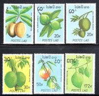 LAOS - N° 931/6 **  (1989)  Fruits Exotiques - Laos