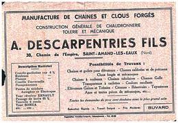 M C/Buvard Manufacture De Chaudronnerie  (Format 20 X 14) (N= 1) - Buvards, Protège-cahiers Illustrés