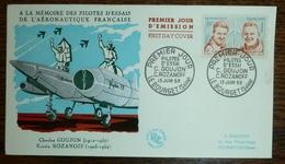 FDC 1969 - GOUJON / ROZANOFF  Oblitération LE BOURGET. N°YT 1213 - FDC