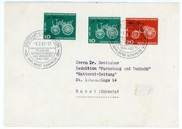 "Nr. 363 + 364 Auslandsbrief Schweiz - Sonderstempel ""STUTTGART 75 Jahre Motorisierung Des Verkehrs"" - [7] République Fédérale"