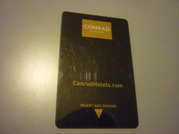 Turkey Istanbul Conrad Hotel Room Key Card - Cartes D'hotel