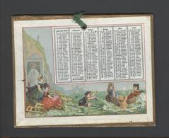 Themes Div-ref Y134- Calendrier 12cms X 9cms - Année 1875- Support Cartonné - Calendrier Bon Etat - - Calendars