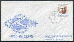 1976 Norway Byrd Amundsen Noth Pole Anniversary Cover. Ny Alesund Spitsbergen - Norway