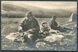 1928 Norway Spitsbergen Norges Lapper Finmarken Postcard. Nordkap - Baltimore USA. 20 Ore Ibsen - Norway