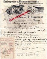 37- TOURS- RARE LETTRE MANUSCRITE SIGNEE FERNAND TERRASSON-ENTREPRISE DEMENAGEMENTS-CAMIONS -90 AV. GRAMMONT-1930 - Transport
