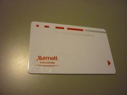 Singapore Marriott Hotel Room Key Card (feet In The Door) - Cartes D'hotel