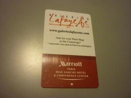 France Paris Rive Gauche Marriott Hotel Room Key Card (white Back) - Cartes D'hotel