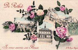 637 - Cp 08  De Rethel Je Vous Envoie Ces Fleurs - Rethel
