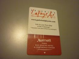 France Paris Rive Gauche Marriott Hotel Room Key Card (red Back) - Cartes D'hotel