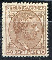 ALFONSO  XII    Nº   195    Certificado   -101 - 1875-1882 Regno: Alfonso XII