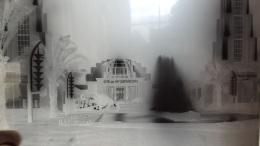 PLAQUE DE VERRE PARIS EXPOSITION COLONIALE 1931 CITE DES INFORMATIONS FORMAT 23.50 X 18 CM - Glass Slides