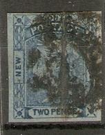 NEW SOUTH WALES 1851 2d DARK BLUE SG 54 USED Cat £35 - Oblitérés