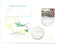 ITALIE 1992 EXPO PHILA. GENOVA 92 CELEBRATION CHRISTOPHE COLOMB - Philatelic Exhibitions