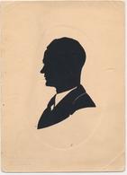 Silhouette Man,  Homme Original Vintage Hand Made Silouette Siluette Berlin 1936 Old Card - Silhouette - Scissor-type