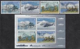FALKLAND ISLANDS DEPENDENCIES Michel 437/40, BLOCK 17  Very Fine Used - Falkland