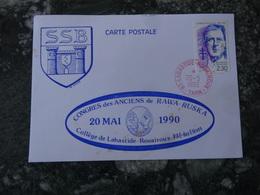 1er Jour 81 Labastide Rouairoux Congres Des Anciens De Rawa Ruska 1990 - FDC