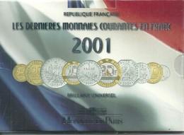 FRANCE - LES DERNIERES MONNAIES COURANTES EN FRANCE BU 2001 (en Coffret Scellé) - Finlande