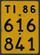 Velonummer Mofanummer Tessin Ticino TI 86 - Plaques D'immatriculation