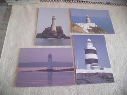 LOT DE 4 PHARES IRLANDAIS ...IRISH LIGHTHOUSES ...TARBET..FASTNET..THE BAILY ET HOOK HEAD. - Lighthouses
