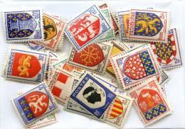 Lot De 50 Timbres De France Blasons - Heraldik, Wappen