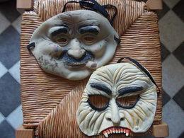 2 ANCIENS MASQUES DE CARNAVAL Caoutchouc Latex MASK - Carnaval