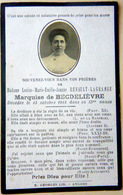MEMORANDUM MARQUISE DE BECDELIEVRE NEE LOUISE RENAULT LAGRANGE FAIRE PART BRETAGNE ANJOU - Obituary Notices