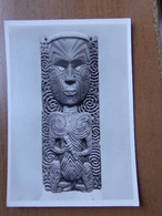 Museum Fur Volkerkunde Leipzig / Geschnitzte Hausplanke Mit Gotterfigur, Maori --> Unwritten - Nouvelle-Zélande