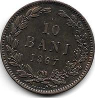 *Romania 10 Bani 1867 Heaton Km 4.1 Xf+ !!!! - Roumanie