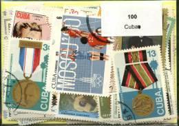 100 Timbres Cuba - Timbres