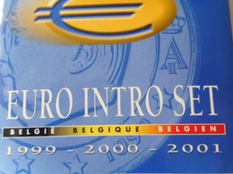 EURO INTRO SET BELGIE 1999-2000-2001 - Belgique