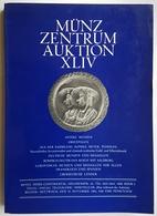 CATALOGUE - NUMISMATIQUE - EN ALLEMAND - MÜNZ ZENTRUM AUKTION XLIV - 1981 - Livres & Logiciels