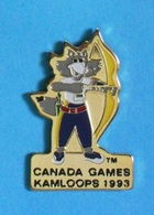 1 PIN'S //  ** TIR à L'ARC / CANADA GAMES KAMLOOPS / 1993 ** . (Spectrum Ⓜ NCGS 1993) - Tir à L'Arc