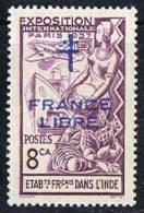 INDE ßurcharge »Croix De Lorraine Et FRANCE LIBRE»  Maury  219 II ** - India (1892-1954)