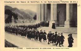 Chine. -  Sainte-Enfance De Hong-Kong : En Revenant De La Messe. - Congrégation Des Soers De Saint-Paul. - Chine (Hong Kong)