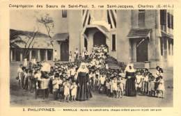 PHILIPPINES. - MANILLE : Après Le Cathéchisme, Chaque Enfant Pauvre Reçoit Son Pain.  - Congrégation Des Soeurs De .... - Philippines