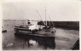 56. QUIBERON. LE GUEDEL PARTANT POUR BELLE ISLE. ANNÉE 1946 - Quiberon