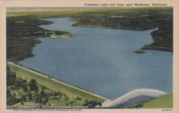 Oklahoma Greenleaf Lake And Dam Near Muskogee Curteich - Muskogee