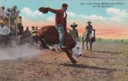 Rodeo Calf Riding For The Spectators - Commercio