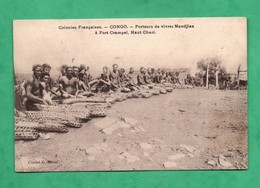 Afrique Congo Français Republique Centrafricaine Kara Bandoro Fort Crampel Porteurs De Vivres Mandjias - Central African Republic