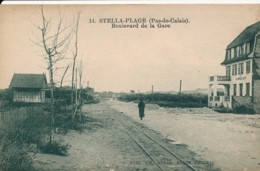 CPA 62 CUCQ STELLA PLAGE Boulevard De La Gare - France