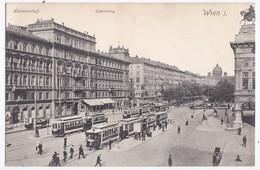 Old Postcard Ca. 1905-10  Austria Österreich Vienna Wien Opernring Tram - Wien