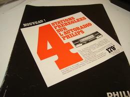 ANCIENNE AFFICHE  PUBLICITE AUTORADIO PHILIPS 1969 - Tabac (objets Liés)