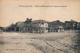 CPA 62 Très Rare CUCQ STELLA PLAGE Coin Du Boulevard De La Gare Et De Berck Edition Pasquier - France