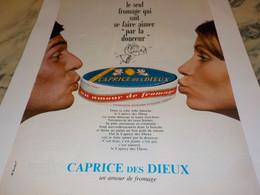 ANCIENNE AFFICHE  PUBLICITE CAPRICE DES DIEUX 1969 - Posters